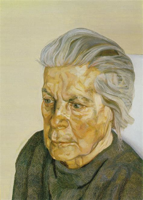 The Painter's Mother III, 1972 - Lucian Freud - WikiArt