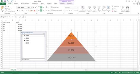 How to Make a Pyramid Chart in Excel | Edraw Max