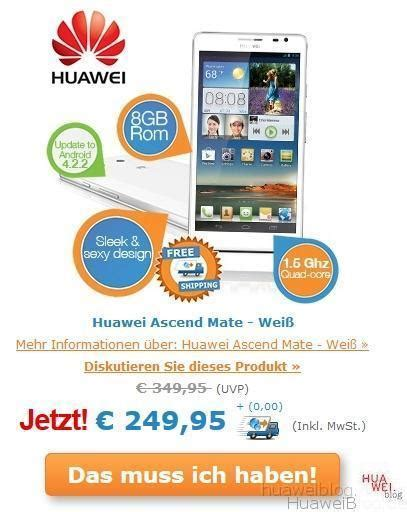 Angebot des Tages - Huawei Ascend Mate bei iBOOD