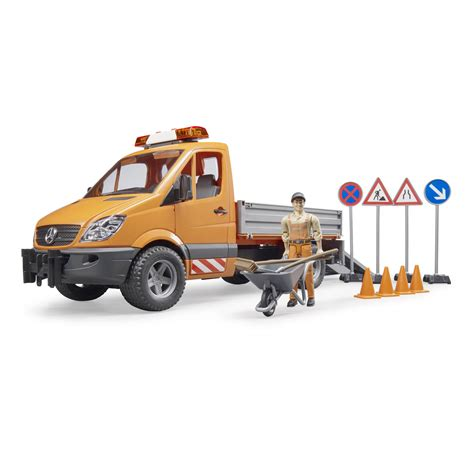 Bruder MB Sprinter Municipal with Worker and Accessories