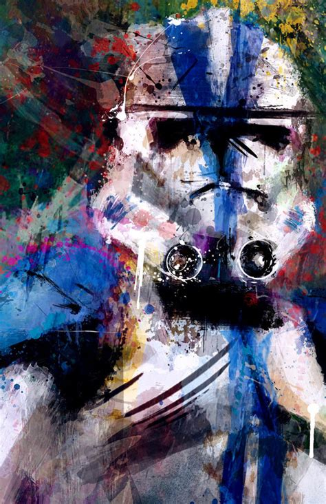 501st Clone Trooper Abstract Art Print Archival Quality