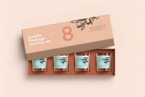 Free sample Candle Package Mockup on Behance