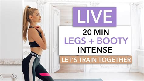 20 MIN LEGS + BOOTY - Let's train together / No Equipment