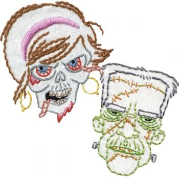 Monsters and Zombies Embroidery by Sublime Stitching