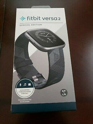 Fitbit Versa 2 Special Edition Smartwatch, Smoke Woven