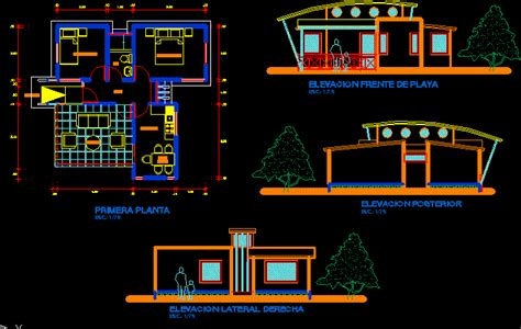 Bungalow in AutoCAD | Download CAD free (72