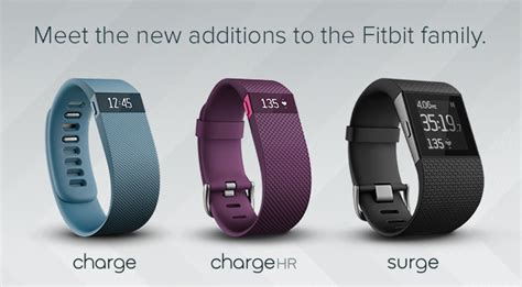 Fitbit Charge, Charge HR & Surge: Welcome to a Whole New